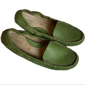 Bussola Mallorca Grass Green Moccasin Loafers 41